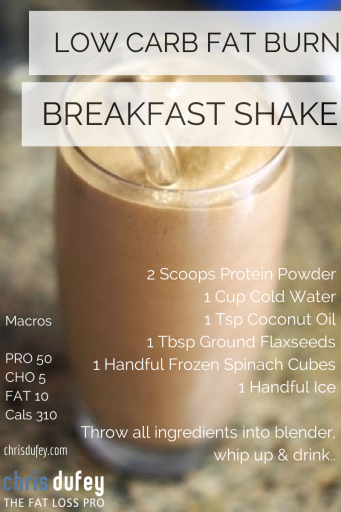 Low Carb Fat Burning Breakfast Smoothie